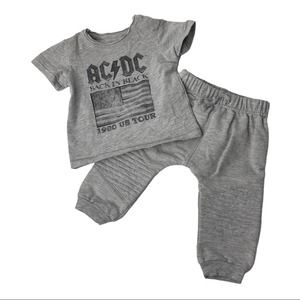 AC/DC Back In Black 1980 US Tour Outfit 6-9 Months